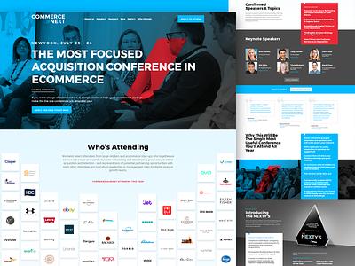 CommerceNext-Landing Page minimal ui design website landing page