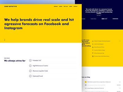 Chief Detective - Marketing Agency Website Design contact blog design landing page website ui minimal