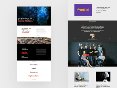 Mikaels blog artificial intelligence graphic design home page landing page website design minimal ai