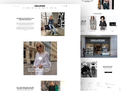 Zadig&Voltaire - Product Page landing page website design ui fashion product page minimal