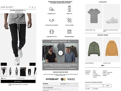 John Elliott - Product Page ui minimal app website graphic design landing page product page ui design mobile design