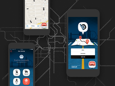 ideliver2 - Online Delivery Application tracking ios app android iphone mobile app delivery concept uber ui design
