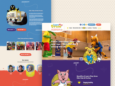 LPG - Learn Play Grow Website illustration cartoon fun playful school teacher children kids colorful graphic design ui design