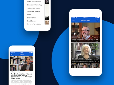Faculti Prep - iPhone App lecture video training oxford online learning academic android iphone mobile app ux design ui design