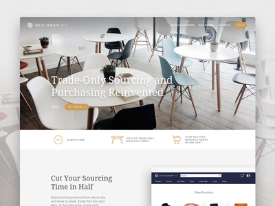 DesignerInc ecommerce marketplace minimal responsive ui design ux web app website