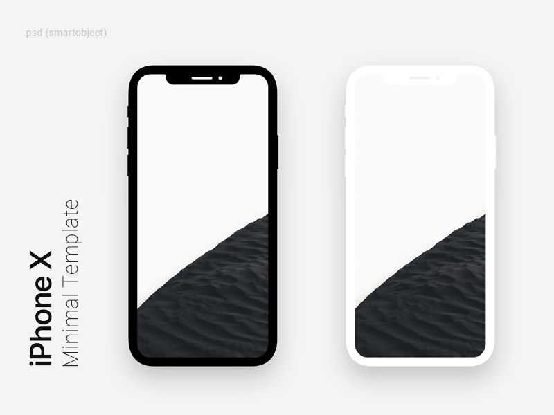 iphone x minimal dark light template for photoshop by syed hameed
