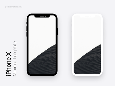 iPhone X Minimal Dark & Light Template for Photoshop light dark white black photoshop mockup free template psd minimal iphone x iphonex