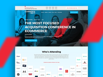 CommerceNext - The Most Focused Acquisition Conference fifa coffee ux ui ebay alibaba amazon google newyork commerce landing page website conference