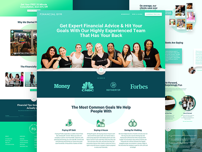 Financial Gym - Landing Page type flat web app vector ux icon typography ui design illustration finance