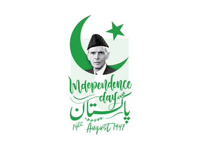Celebrating 71 Independence Day of Pakistan - 14th August crescent jinnah celebration day independence pakistan august 14