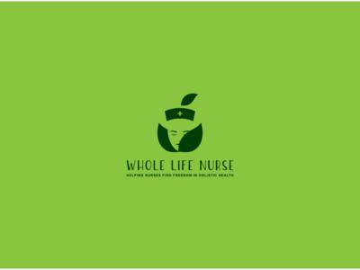 whole life nurse logo design