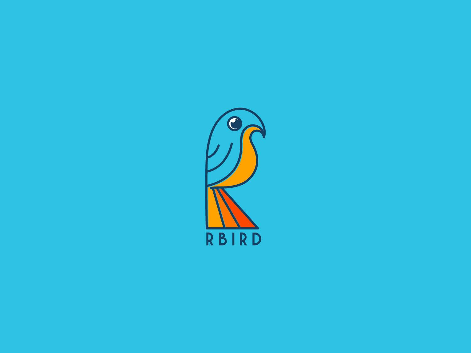 R bird Logo bird logo education logo logodesign