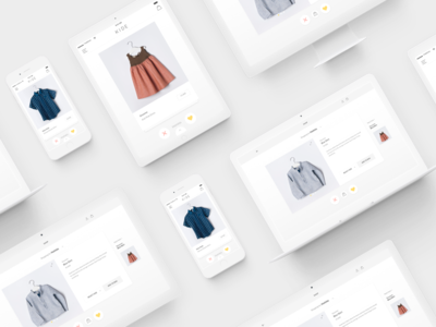 Responsive clean minimal ux ui shop kids interface fashion e-commerce cloth apparel accessories