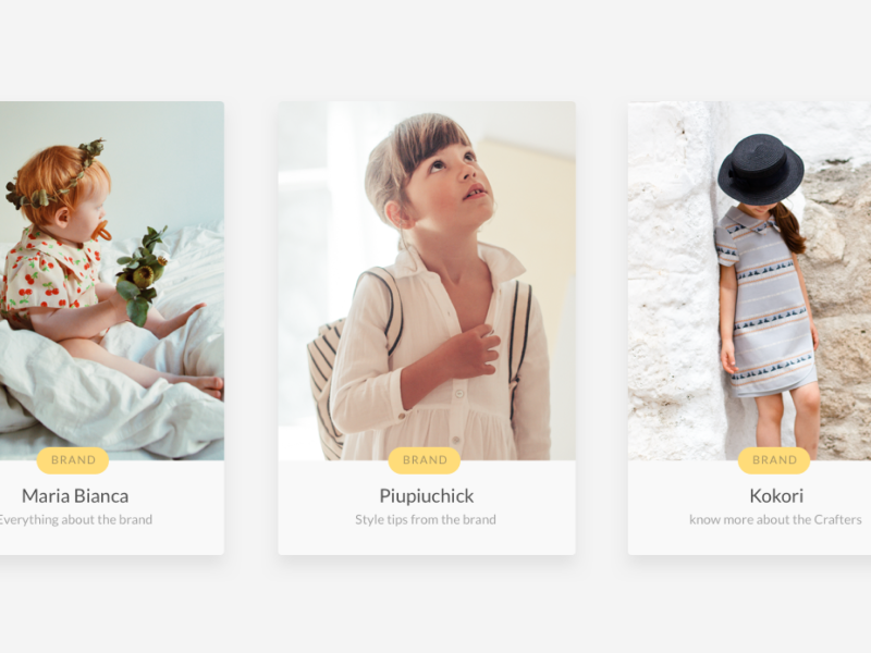 Covers for articles magazine e-commerce clean minimal ios app mobile fashion ux ui