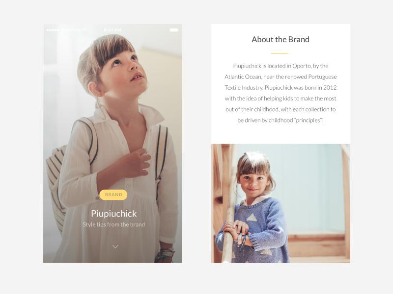Article view e-commerce clean minimal ios app mobile fashion ux ui magazine