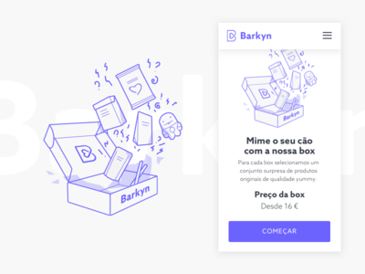 Barkyn Box Illustration ux ui shop mobile minimal interface illustration ecommerce barkyn app