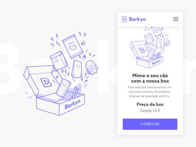 Barkyn Box Illustration ux ui shop mobile minimal interface illustration ecommerce barkyn app