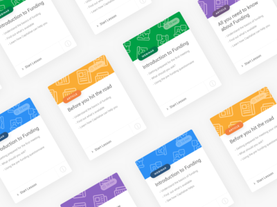 Learning Cards cards capitalise learning finance business app ux ui minimal