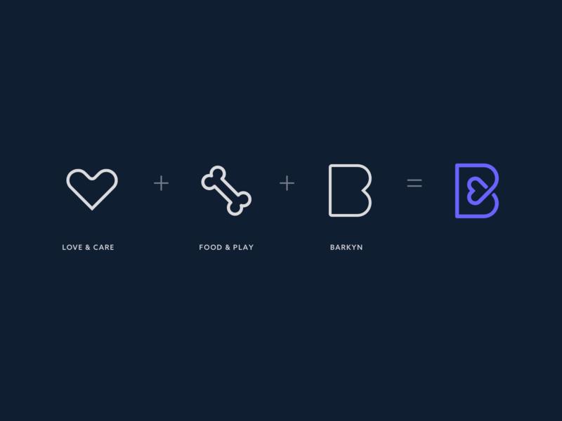 Logo Icon for Barkyn app clean icon branding vector logo design minimal