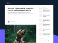 Learning dogs e-commerce vector design interface brand app clean ux ui minimal