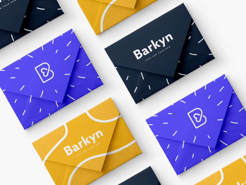 Barkyn Cards psd download mock patterns color logo e-commerce branding vector design minimal graphic