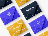Barkyn Cards psd download mock patterns color logo e-commerce branding vector design minimal graphic