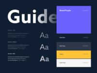 Barkyn Guidelines rules identity style guide color typography guidelines brand ui ui guide clean