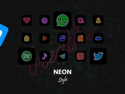 Era Flat & Neon App Icon Set FREE icon pack neon ios 14 ios 14 app icons ios 14 icons solid colored neon appicon icon set figma app icon set app icons neon app icon set app icon set neon icon set