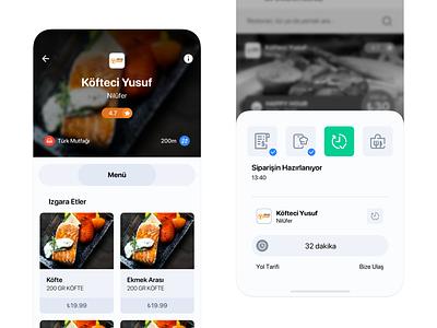 Food Delivery App Concept menu restaurant market food app food delivery food