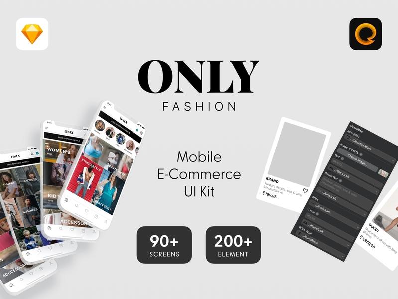 Only Fashion Mobile E Commerce Ui Kit By Eray Yavuz Dribbble
