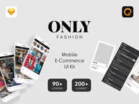 ONLY Fashion Mobile E-Commerce UI Kit