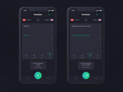 Cevy Translate App UI Kit (Dark & Light)