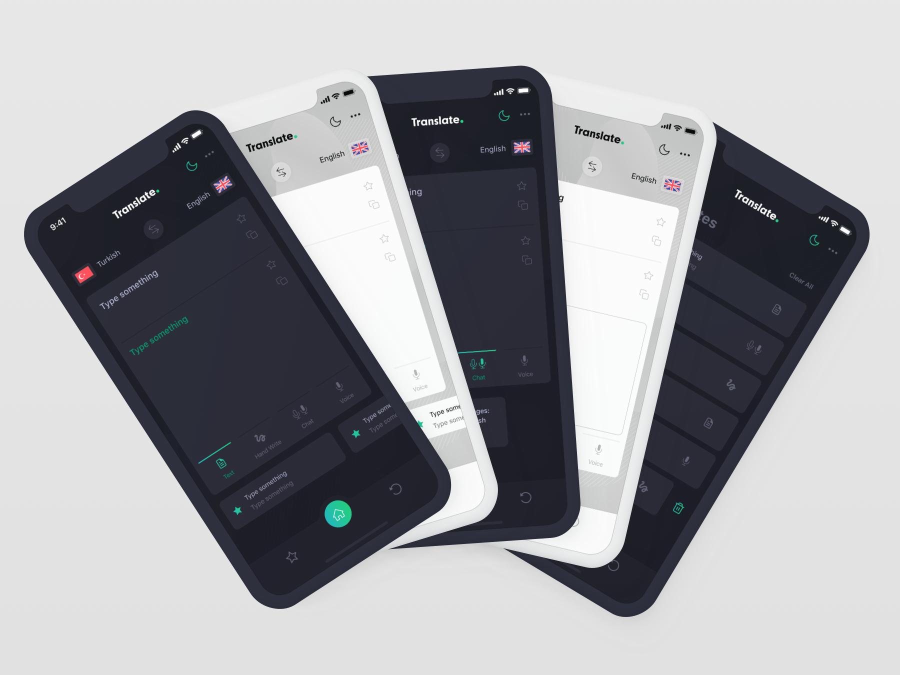 Cevy Translate App UI Kit by Eray Yavuz   Dribbble   Dribbble