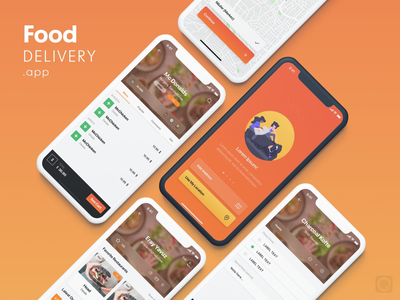 Food Delivery App UI Kit food delivery app adobe xd sketch app ui kit app ui food delivery delivery food