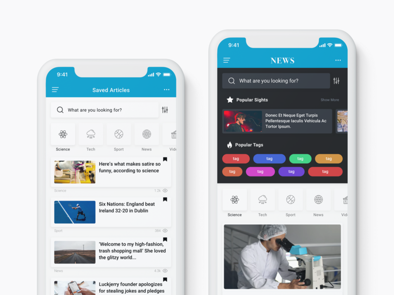 News & Reader Mobile App UI Kit by Eray Yavuz on Dribbble