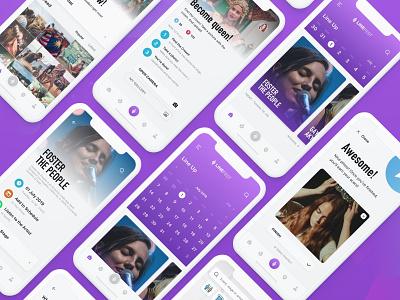 LineFest - Music Festival Mobile App UI Kit music app festival app ui kit sketch kit app sketch free kit free ui kit adobe xd invision studio scavenger hunt mobile app design app design kit