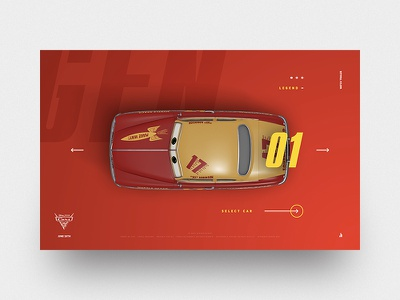 Cars 3 interaction disney jam3 movie ui design layout pixar cars