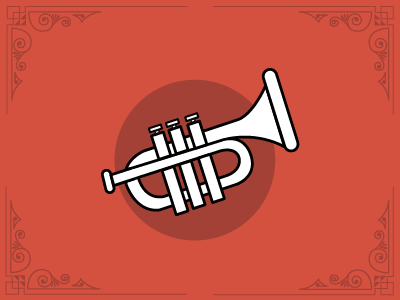 Trumpet icon icon trumpet music band party