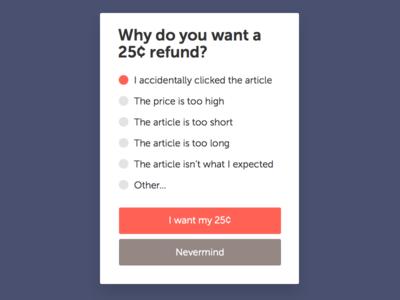Refund Dialog buttons dialog refund