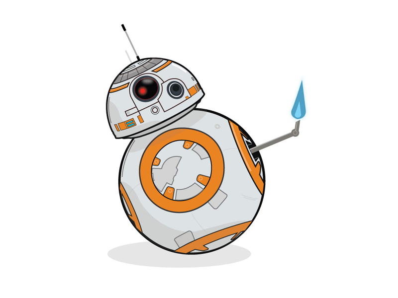 Bb8 thumbs up the force awakens star wars cute droid bb8