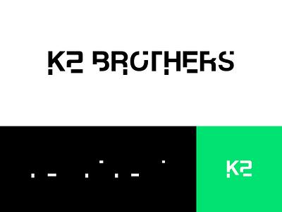 K2 Brothers Logo crypto hidden message k2 typogaphy brand identity k2 brothers logotype flat mark icon identity branding brand logo design logo concept agency digital code design logo