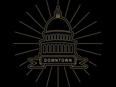 Downtonwn logo lineart sign simple monoline symbol outline line downtonwn logo