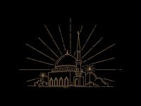 line art mosque