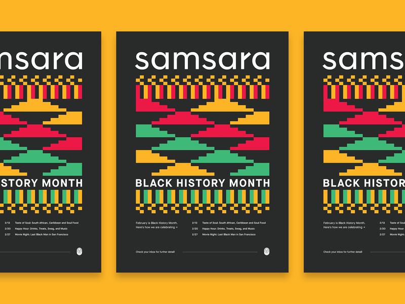 Samsara Black History Month 2020 pattern poster black history month branding design samsara