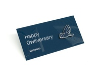 Samsara anniversary pin and card