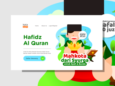 Hafidz Quran Kids Flat Design Illustrations