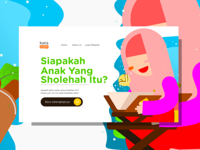 Hafidzah Quran Kids Flat Design Illustrations