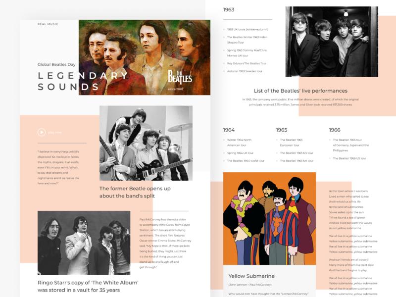 Beatles website redesign