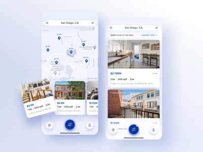 pinpoint real estate clean ui app