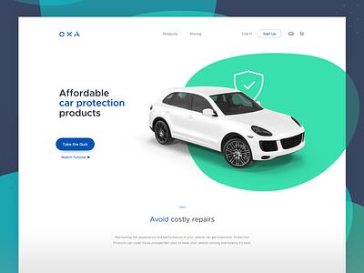 Car Insurance Website ui  ux design automotive 3d ui web
